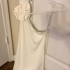 White off shoulder dress ! Never worn XS/S
